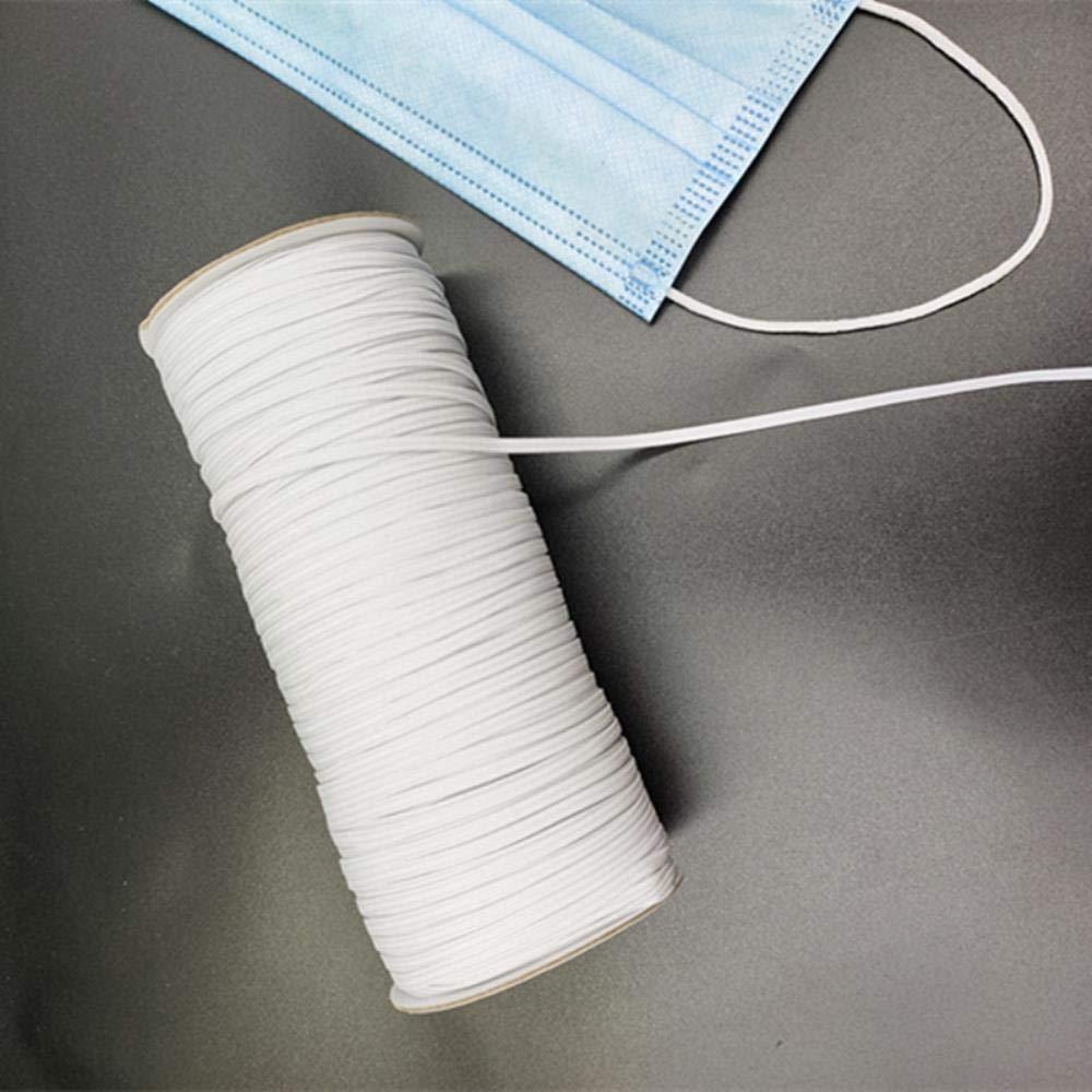 lot 1 mm 1.5-5MM ronde de haute qualit/é /élastique bande /élastique facemask bande de caoutchouc corde de bricolage masques chirurgicaux /à,blanc,1mm 2meter