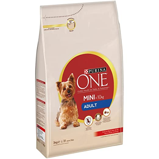 Purina One - My Dog Is Perro Mini Adult Buey y Arroz, 3 Kg: Amazon.es: Productos para mascotas