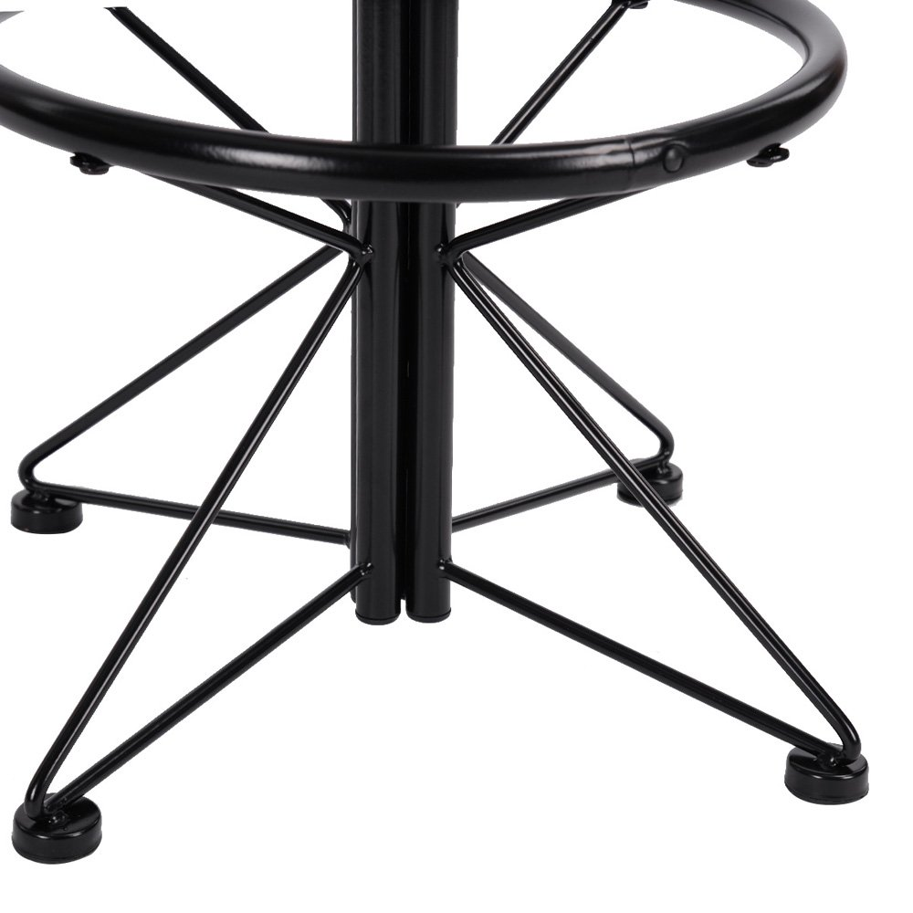 FurnitureR Breakfast Table Set 3pcs Bar Set 2 High Bar Stools and 1 Round Table Panel Metal by FurnitureR (Image #5)