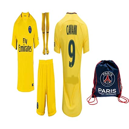 wholesale dealer d0b67 3ec8d Kid/Youth Paris Saint Germain PSG 2017 2018 17 18 Replica Home, Away Jersey  Neymar Jr, Cavani & Di Maria Kit: Jersey, Short, Socks + Soccer Bag