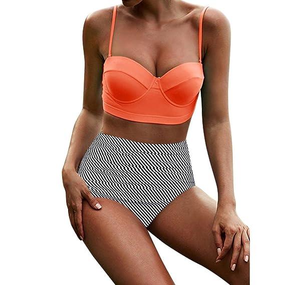 Longra 2046 mujeres de cintura alta Bikinis traje de baño traje de baño femenino Beachewear Bikini