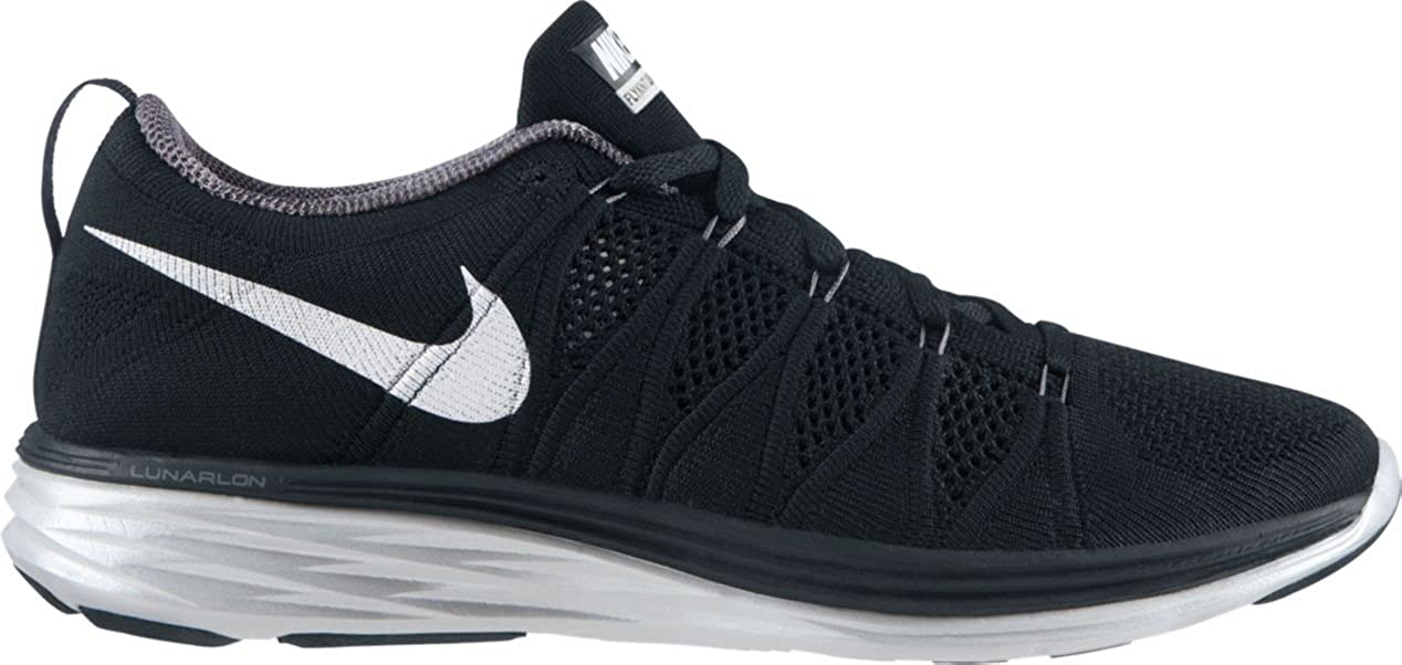 on sale 4d7a7 616e7 Nike Flyknit Lunar2 Men s Running Shoes, Black White-Dark Grey-pr Pltnm,  10.5  Amazon.co.uk  Sports   Outdoors