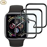 【3枚入り】Apple Watch 40mm フイルム AROC 軟質材料HDフィルム Series 4 液晶フイルム/透明度が高い/ 3D 全面保護/レンズフィルム/耐衝撃/指紋防止/気泡ゼロ/スクラッチ防止/超薄アップルウォッチシリーズ4 液晶保護フィルム