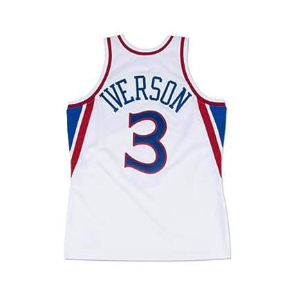 newest 994a5 ccc51 Amazon.com : Mitchell & Ness Allen Iverson Philadelphia ...