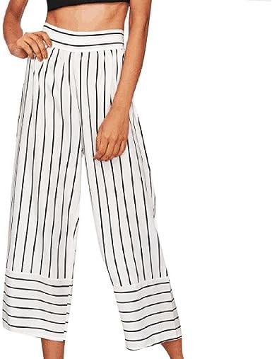 Ohq Pantalones Para Mujer Cortos Anchos De Pierna Ancha Pantalones Anchos Rayas Con Rayas Cortos Sueltos Solidos Mujeres Bolsillos Pantalones Cortos Casuales Senora Verano Amazon Es Ropa Y Accesorios