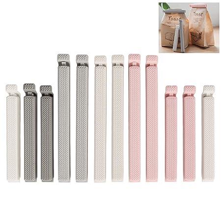 12 clips de sellado de plástico Hami, para cocina, frigorífico ...