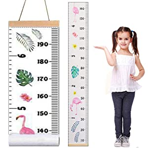 "Baby Growth Chart,Canvas Height Measurement Ruler,Hanging Ruler Wall Decor Ruler for Kids Wall Decor Baby Nursery Decoration,Great Baby Shower Christmas Gift 79"" x 7.9"""