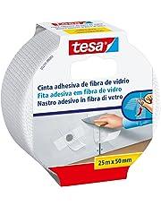 Tesa 05255-00003-02 Cinta fibra de vidrio reparación paredes dañadas 25mx50mm blanco