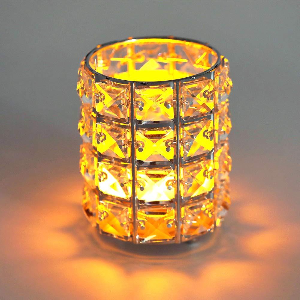 Amazon.com: Portavelas de cristal Siver: Home & Kitchen