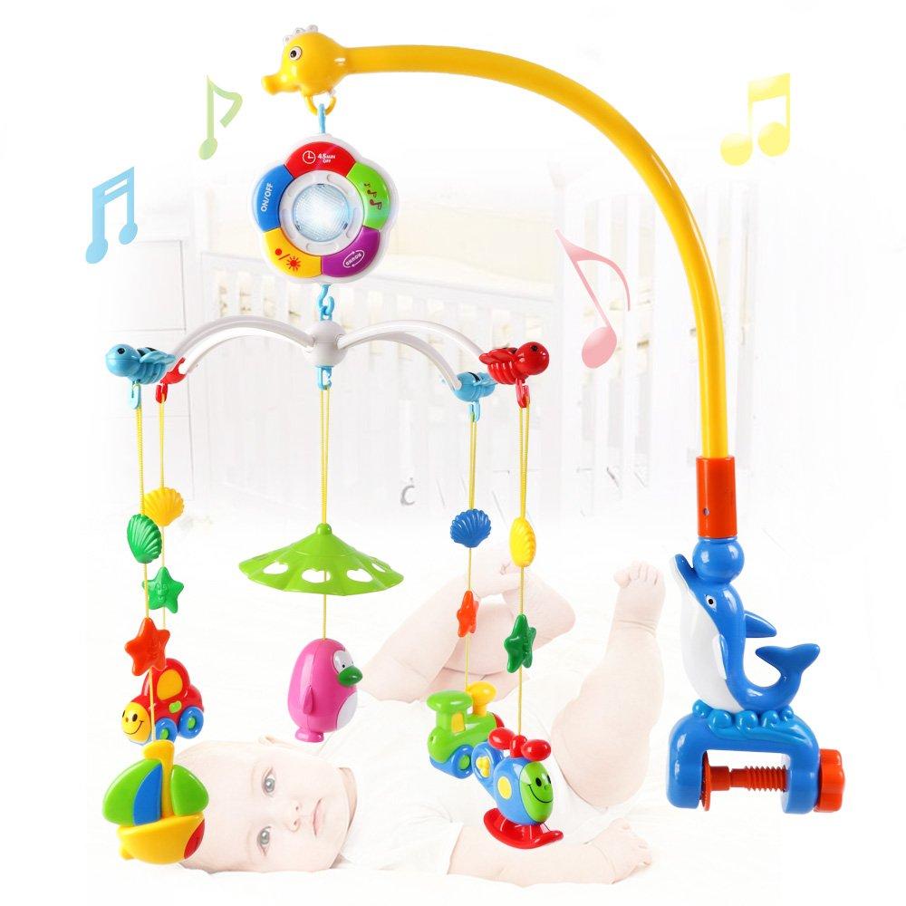 amazoncom  wish baby musical mobile cartoon hanging rattles and  - amazoncom  wish baby musical mobile cartoon hanging rattles and teethertoys  baby