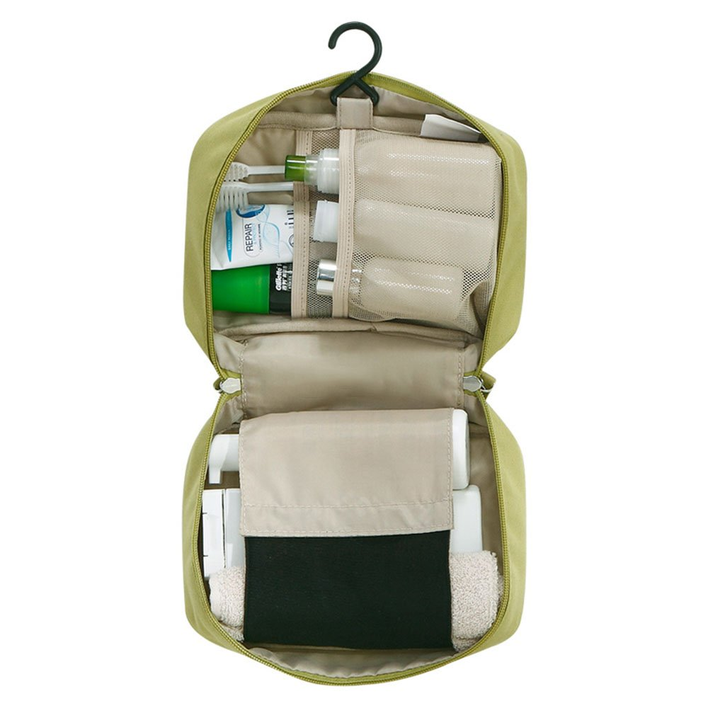 Toiletry bag CAICOLOR Men &Women Foldable Hanging Waterproof, Travel Wash Bag forFoldable Compact Size, Zipper, Portable Coat Hangers as GIFT, 3 Colors Available (Color : 2)