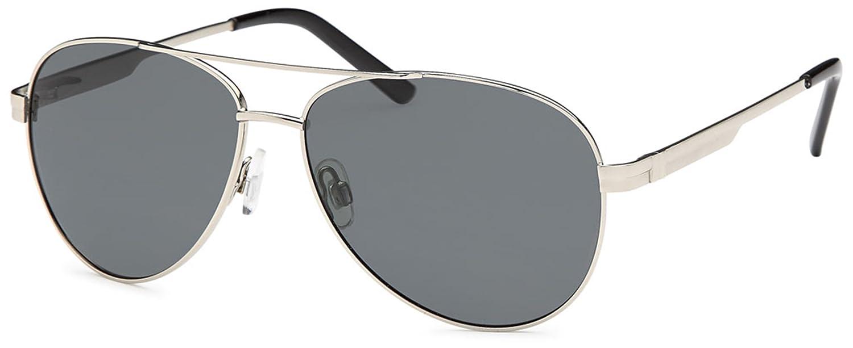 Piloten-Sonnenbrille mit polarisierten Gläsern und Federscharnier in 2 Farben - im Set mit Zubehör (silber) z7UGIIwP