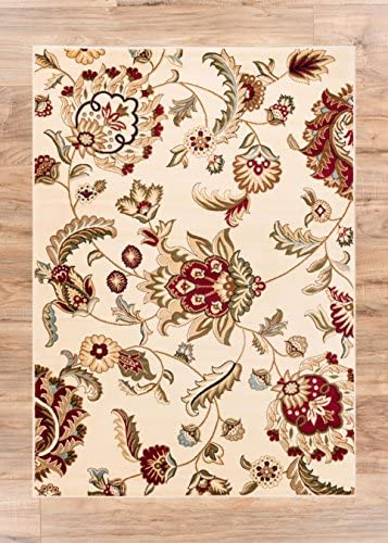 Well Woven Barclay Ashley Oriental Ivory Oriental Area Rug 9'3'' X 12'6''