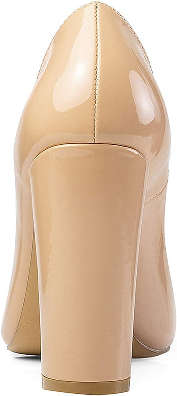 Details about  /Elegant Women/'s Round Toe Block Heel Slip On Evening Dinner Shoes Pumps 44//45 L