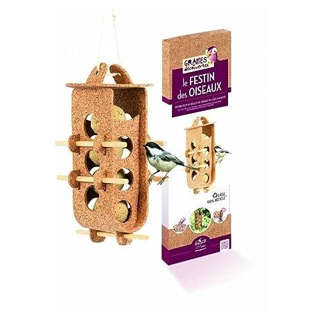 Graines de découvertes Le Festin Distributeur de Boules de Graisse pour  Oiseau 5c554839921f