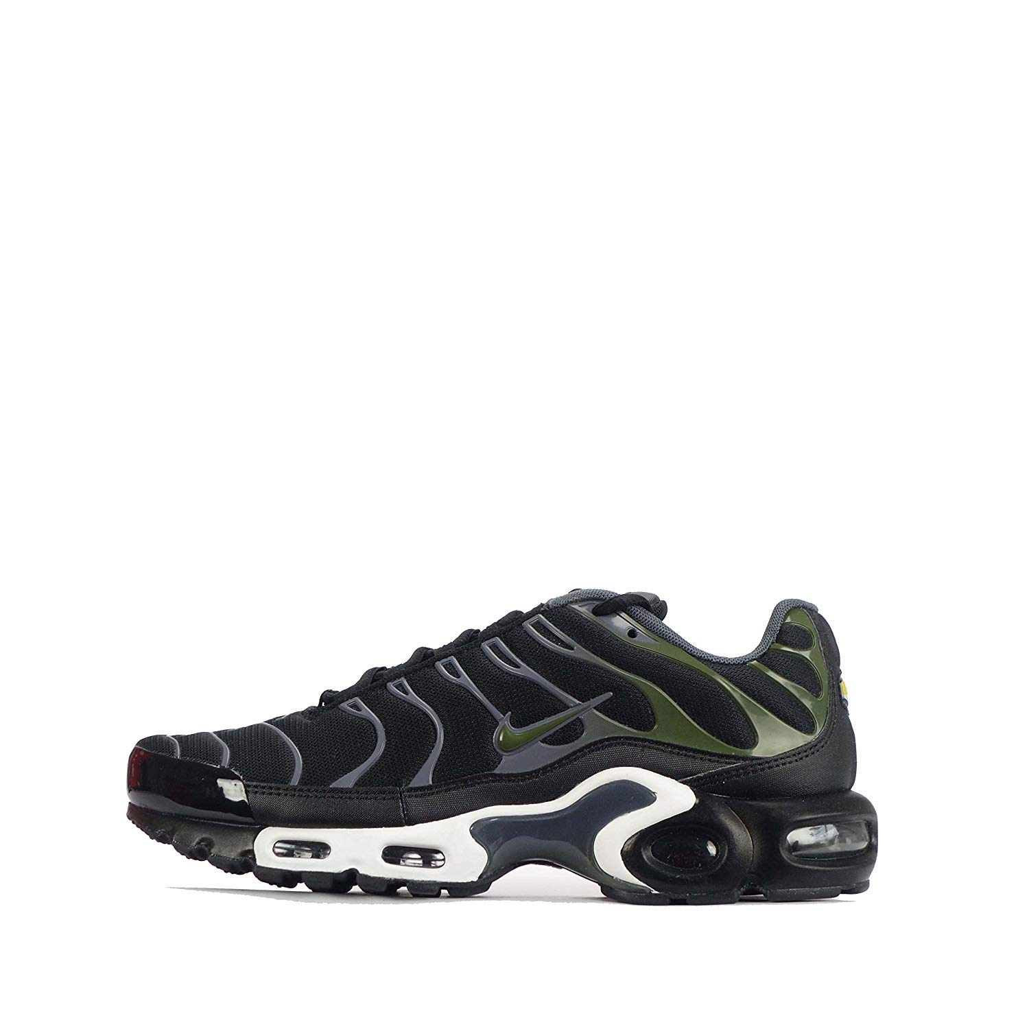 finest selection 508dc f47c9 Amazon.com  Nike Mens Air Max Plus Sneakers New, BlackOlive Green  852630-007  Fashion Sneakers