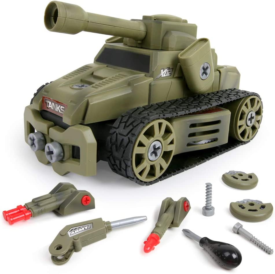 Diecast Military Playset Metal Army Base Tank Missile Vehicle 14 Piece