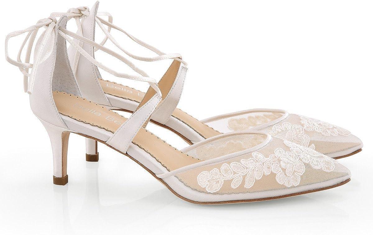 Kitten Heel Lace Wedding Shoes