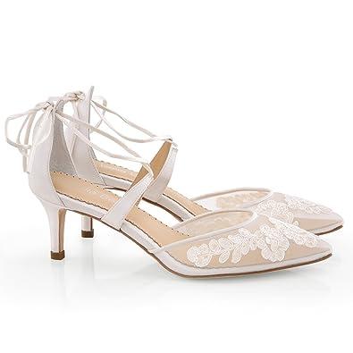 07076d20a56a18 Pump Kitten Heel Lace Wedding AML Ivory 6