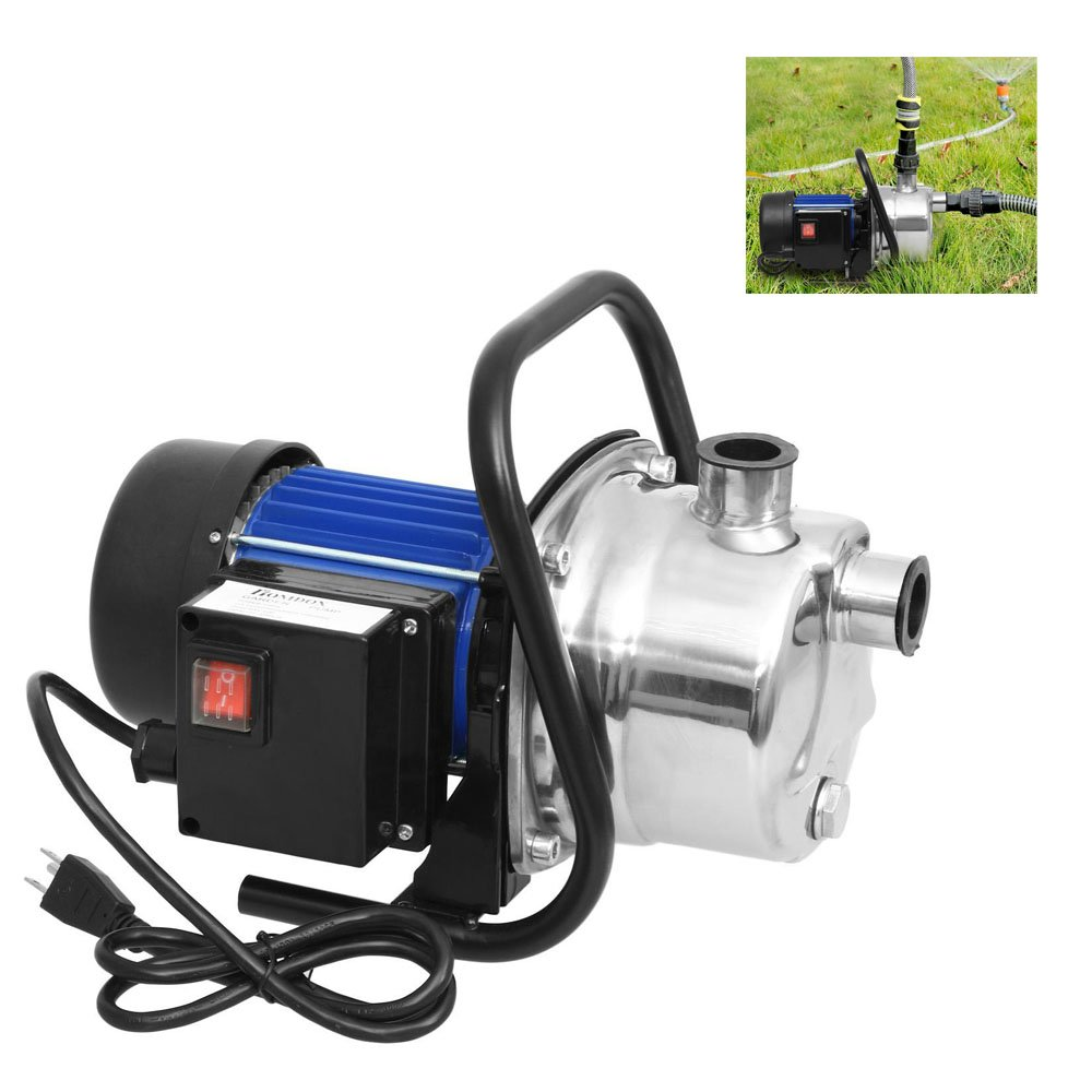 Ferty 1.6HP Home Garden Lawn Sprinkling Booster Pump Stainless Shallow Well Pump for Irrigation and Water Transport