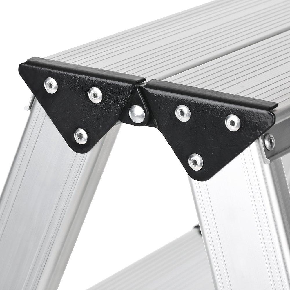 IKayaa /Échelle /à 2 /étages pliable 330 pouces Capacit/é en aluminium sans escalier en aluminium