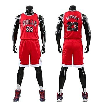 Daoseng El Hombre NBA Michael Jordan # 23 Chicago Bulls Retro Pantalones Cortos de Baloncesto Camisetas de Verano Uniformes y Tops de Baloncesto Uniformes ...