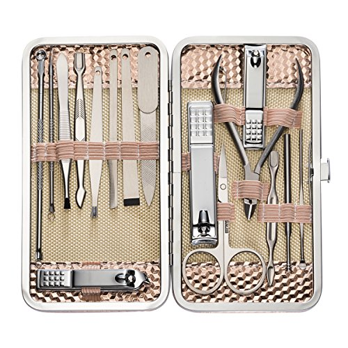 Supersail 16 Pcs Nail Clippers Set Pedicure Kit Stainless St