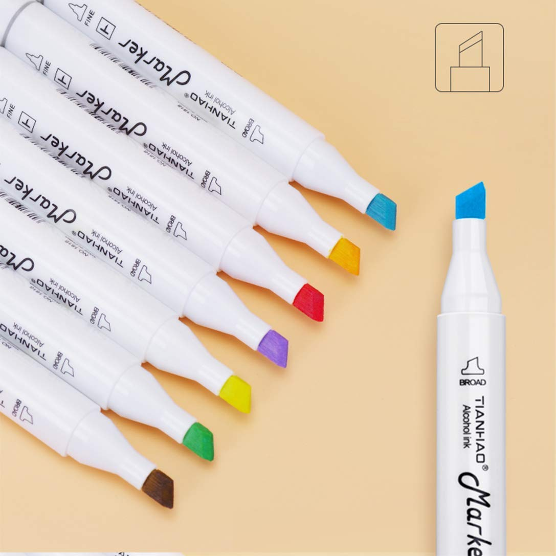 TIANHAO Markers, 80 Colors Art Marker Pen Set for Kids & Adult, Double-Ended Alcohol Based Drawing Art Supplies by TIANHAO (Image #4)
