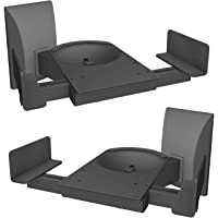 WALI Dual Side Clamping Bookshelf Speaker Wall Mounting Bracket for Large Surrounding Sound Speakers, Hold Up to 120 lbs…