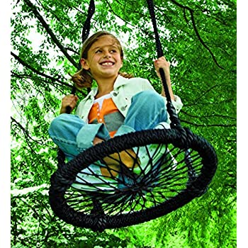 Amazoncom Round And Round Outdoor Rope Swing Nylon Black 23