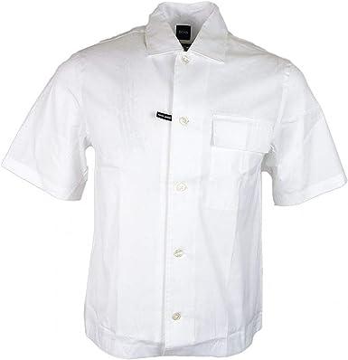 Hugo Boss Ned P camisa de manga corta blanca 50403982 pequeña