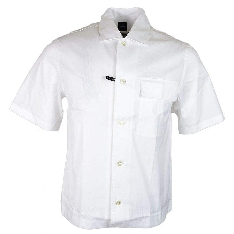 Blanc S BOSS Hugo Ned_P Chemise à Manches Courtes Blanc