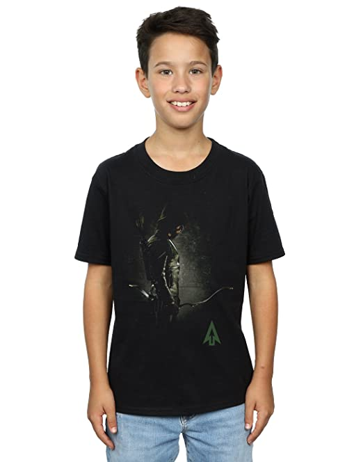 DC Comics Arrow Hooded Focus, Camiseta para Hombre