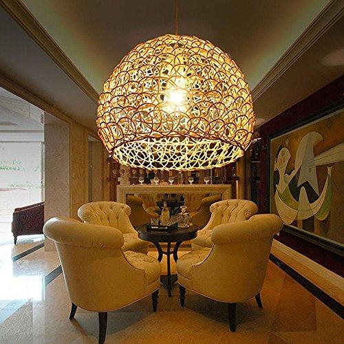 Yancui pastoral woven rattan chandelier creative living room yancui pastoral woven rattan chandelier creative living roombedroomdining spherical lamps 2518cm aloadofball Images