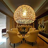 YanCui@ Pastoral woven rattan chandelier creative living room/bedroom/dining spherical lamps , 36*30cm
