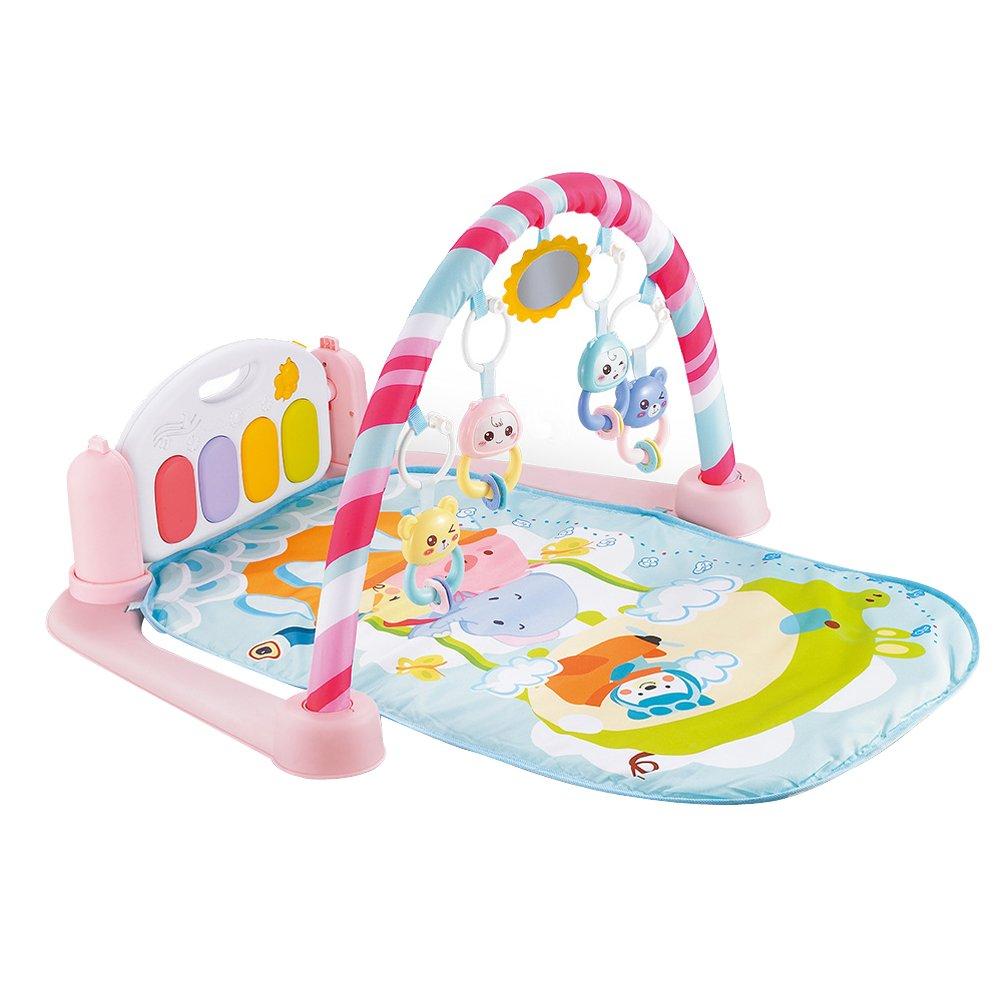 Toyvian Mantas de Actividades para Bebé con Piano Música Actividades Educativas para Bebe Rosa