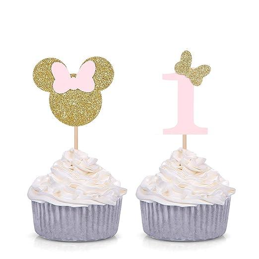 Minnie Mouse - Juego de 24 palillos para decoración de ...