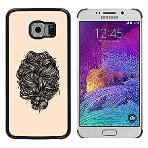 PC/Aluminum Funda Carcasa protectora para Samsung Galaxy S6 EDGE SM-G925 hair black / JUSTGO PHONE PROTECTOR