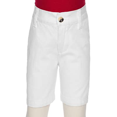 AKA Boys Flat Front Twill Shorts - 100% Cotton Machine Wash Slacks