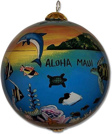 2021 Maui Christmas Ornaments Amazon Com Collectible Hawaiian Family Vacation Christmas Ornament Aloha Maui Fv M Kitchen Dining