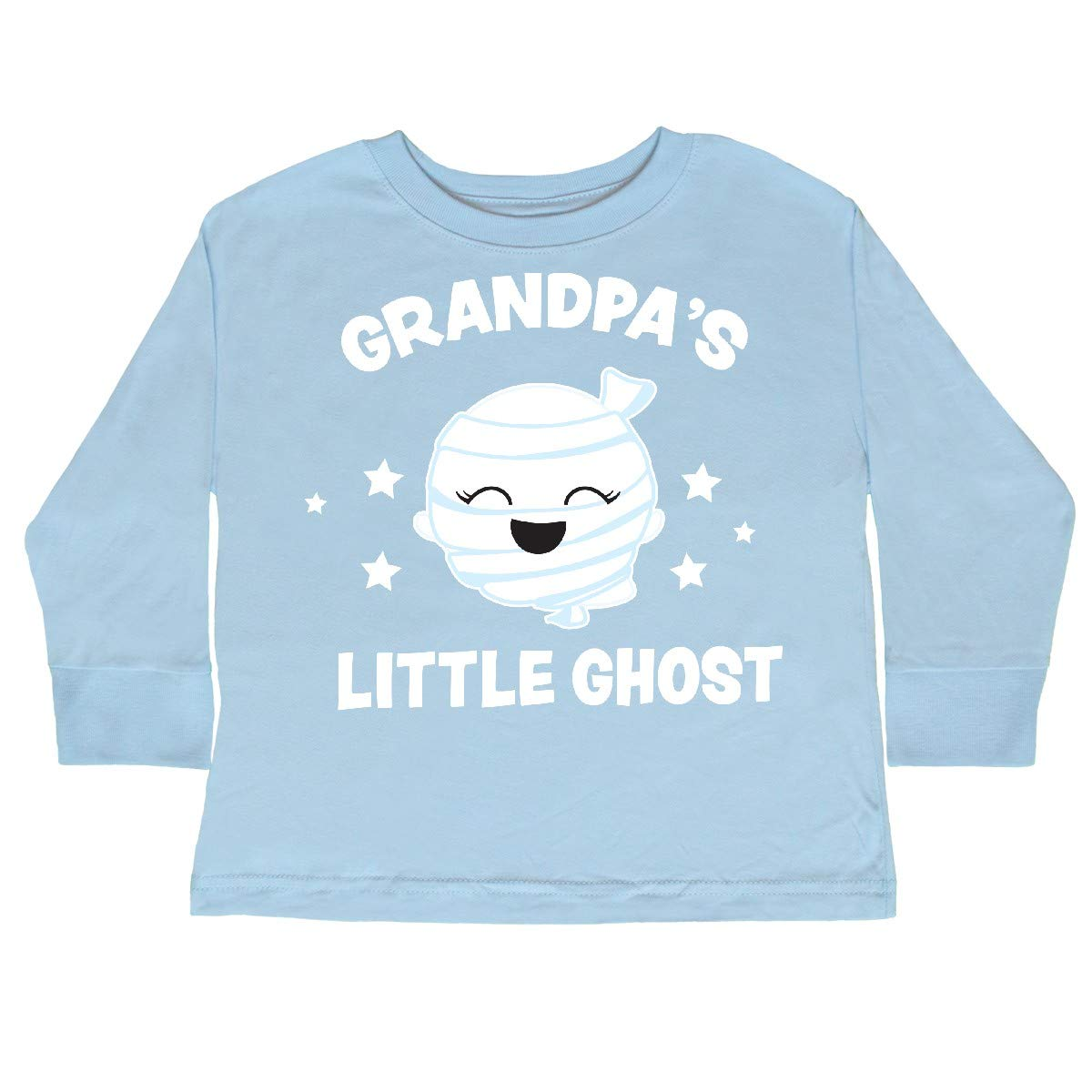 inktastic Cute Grandpas Little Ghost with Stars Toddler Long Sleeve T-Shirt