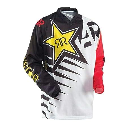 HENONG EU Camiseta de Manga Larga de Deportes al Aire Libre, Traje de Descenso, Carreras de Motocross, Camiseta. (Color : 15, Size : L)