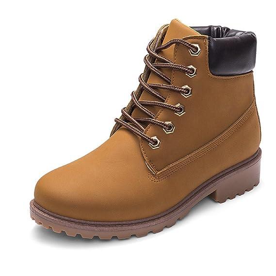 ❤ Botas de Mujer Botines,Zapatos con Cordones Botas de Mujer Faux Boots Botines Casual Shoes Botas de Cuero Absolute: Amazon.es: Ropa y accesorios