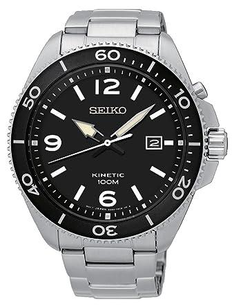 Seiko Reloj Cronógrafo de Cuarzo para Hombre con Correa de Acero Inoxidable - SKA747P1: Amazon.es: Relojes