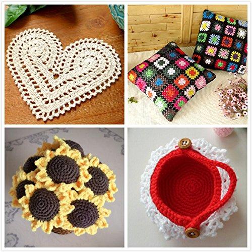 Aluminium Crochet Hooks Kits Knitting Knit Needles Weave Yarn Set Ergonomic Grip 2mm to 6.5mm ,Black