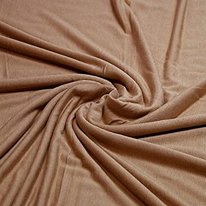 e1782ffa96a Plain Viscose Elastane Stretch Jersey Fabric 150 cm wide per metre (Camel):  Amazon.co.uk: Kitchen & Home