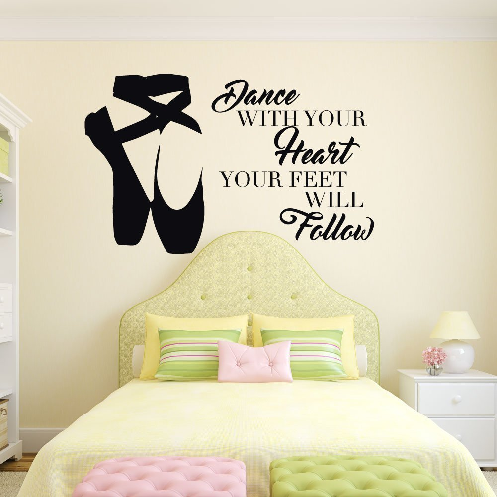 Amazon.com: Personalized Ballerina Wall Decor -Dance With Your Heart ...