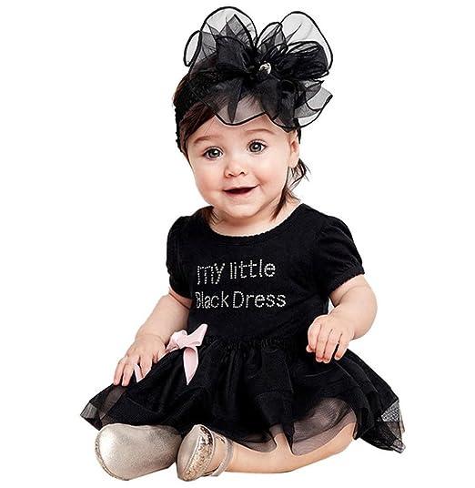 "cf6acea0b789 Sagton ""My Little Black Dress Lovely Kids Toddler Baby Girls Dress  Pageant Tulle Tutu"
