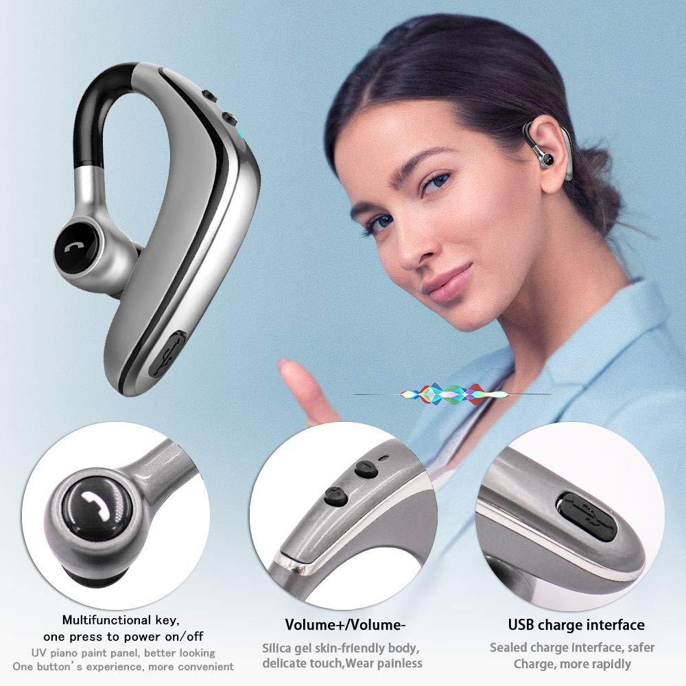 Bluetooth sans Fil Kit Oreillette Ecouteur Intra-auriculaire Mono Ecouteur Bluetooth sans Fil Voiture en Mains Libres avec Micro Int/égr/é Mains Libres pour iPhone etc. Sony Huawei Samsung