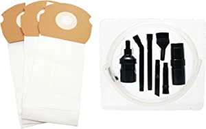 Upstart Battery 3 Replacement for Eureka ASM1156 Vacuum Bags with 7-Piece Micro Vacuum Attachment Kit - Compatible with Eureka 68155, AS Vacuum Bags